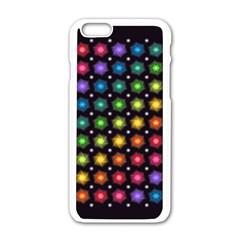 Background Colorful Geometric Apple Iphone 6/6s White Enamel Case