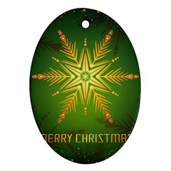Christmas Snowflake Card E Card Ornament (oval)
