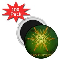 Christmas Snowflake Card E Card 1 75  Magnets (100 Pack)