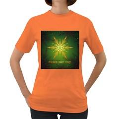 Christmas Snowflake Card E Card Women s Dark T Shirt
