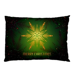 Christmas Snowflake Card E Card Pillow Case (two Sides)