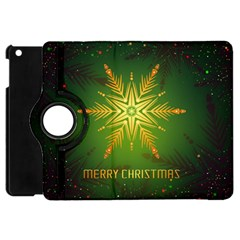Christmas Snowflake Card E Card Apple Ipad Mini Flip 360 Case