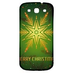 Christmas Snowflake Card E Card Samsung Galaxy S3 S Iii Classic Hardshell Back Case