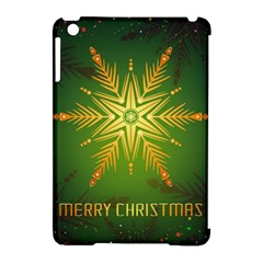 Christmas Snowflake Card E Card Apple Ipad Mini Hardshell Case (compatible With Smart Cover) by Nexatart