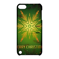 Christmas Snowflake Card E Card Apple Ipod Touch 5 Hardshell Case With Stand by Nexatart