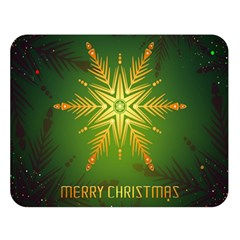 Christmas Snowflake Card E Card Double Sided Flano Blanket (large)