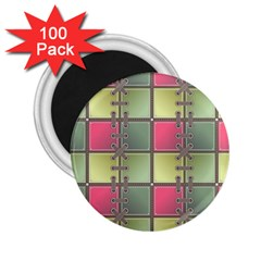 Seamless Pattern Seamless Design 2 25  Magnets (100 Pack)