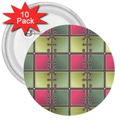 Seamless Pattern Seamless Design 3  Buttons (10 Pack)