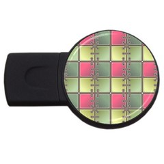 Seamless Pattern Seamless Design Usb Flash Drive Round (4 Gb)