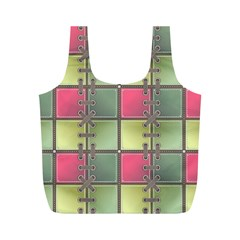 Seamless Pattern Seamless Design Full Print Recycle Bags (m)