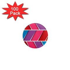 Abstract Background Colorful 1  Mini Magnets (100 Pack)