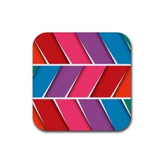 Abstract Background Colorful Rubber Coaster (square)