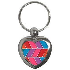 Abstract Background Colorful Key Chains (heart)