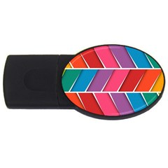 Abstract Background Colorful Usb Flash Drive Oval (2 Gb)