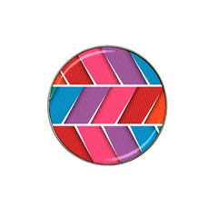 Abstract Background Colorful Hat Clip Ball Marker (10 Pack)