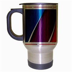 Abstract Background Colorful Travel Mug (silver Gray)