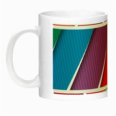 Abstract Background Colorful Night Luminous Mugs