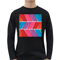 Abstract Background Colorful Long Sleeve Dark T Shirts