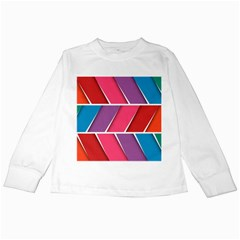 Abstract Background Colorful Kids Long Sleeve T Shirts