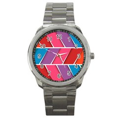 Abstract Background Colorful Sport Metal Watch