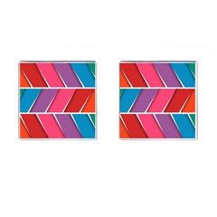 Abstract Background Colorful Cufflinks (square)
