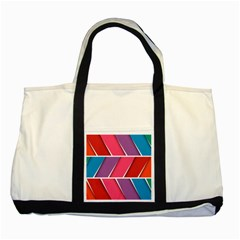 Abstract Background Colorful Two Tone Tote Bag