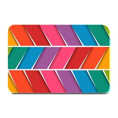 Abstract Background Colorful Plate Mats