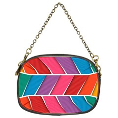 Abstract Background Colorful Chain Purses (two Sides)