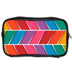 Abstract Background Colorful Toiletries Bags