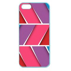 Abstract Background Colorful Apple Seamless Iphone 5 Case (color)