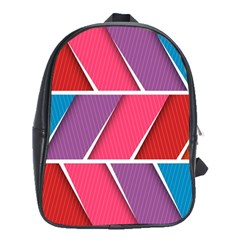 Abstract Background Colorful School Bag (xl)