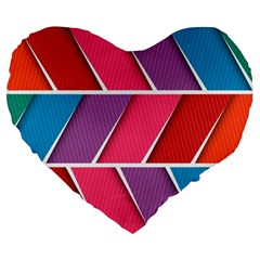 Abstract Background Colorful Large 19  Premium Heart Shape Cushions