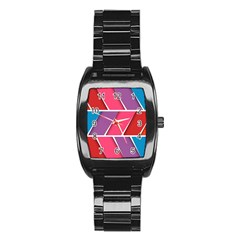 Abstract Background Colorful Stainless Steel Barrel Watch by Nexatart