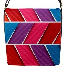 Abstract Background Colorful Flap Messenger Bag (s)