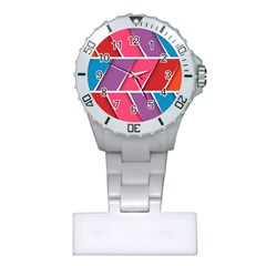 Abstract Background Colorful Plastic Nurses Watch