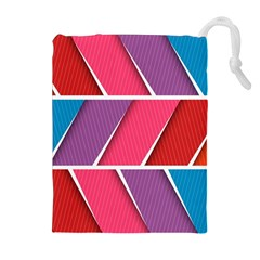 Abstract Background Colorful Drawstring Pouches (extra Large) by Nexatart