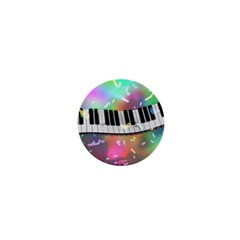 Piano Keys Music Colorful 3d 1  Mini Buttons