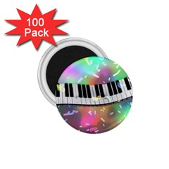 Piano Keys Music Colorful 3d 1 75  Magnets (100 Pack)