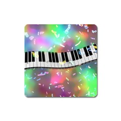 Piano Keys Music Colorful 3d Square Magnet