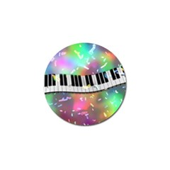 Piano Keys Music Colorful 3d Golf Ball Marker (10 Pack)