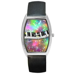 Piano Keys Music Colorful 3d Barrel Style Metal Watch