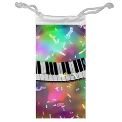 Piano Keys Music Colorful 3d Jewelry Bag by Nexatart