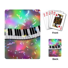 Piano Keys Music Colorful 3d Playing Card