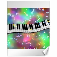 Piano Keys Music Colorful 3d Canvas 12  X 16