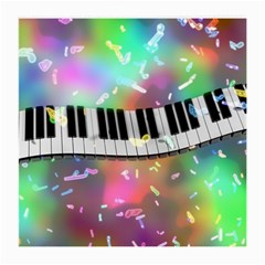 Piano Keys Music Colorful 3d Medium Glasses Cloth