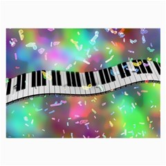 Piano Keys Music Colorful 3d Large Glasses Cloth by Nexatart