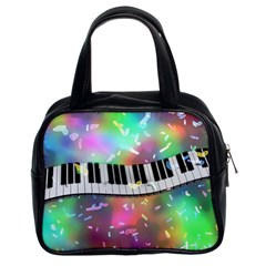 Piano Keys Music Colorful 3d Classic Handbags (2 Sides)