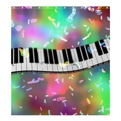 Piano Keys Music Colorful 3d Shower Curtain 66  X 72  (large)