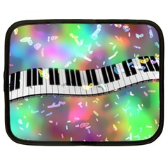 Piano Keys Music Colorful 3d Netbook Case (xl)