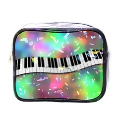 Piano Keys Music Colorful 3d Mini Toiletries Bags